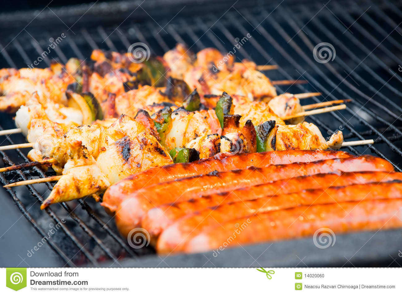 Sausages And Barbecue On A Open Air Stock Photo - Image ...