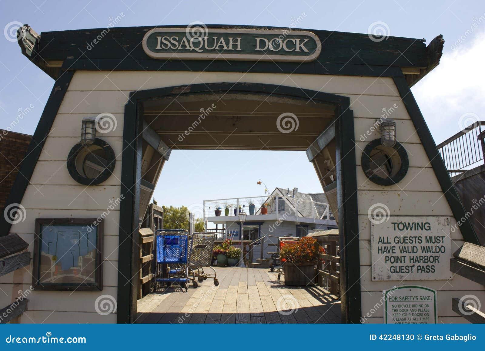 Sausalito houseboats, wejście Issaquah quartier