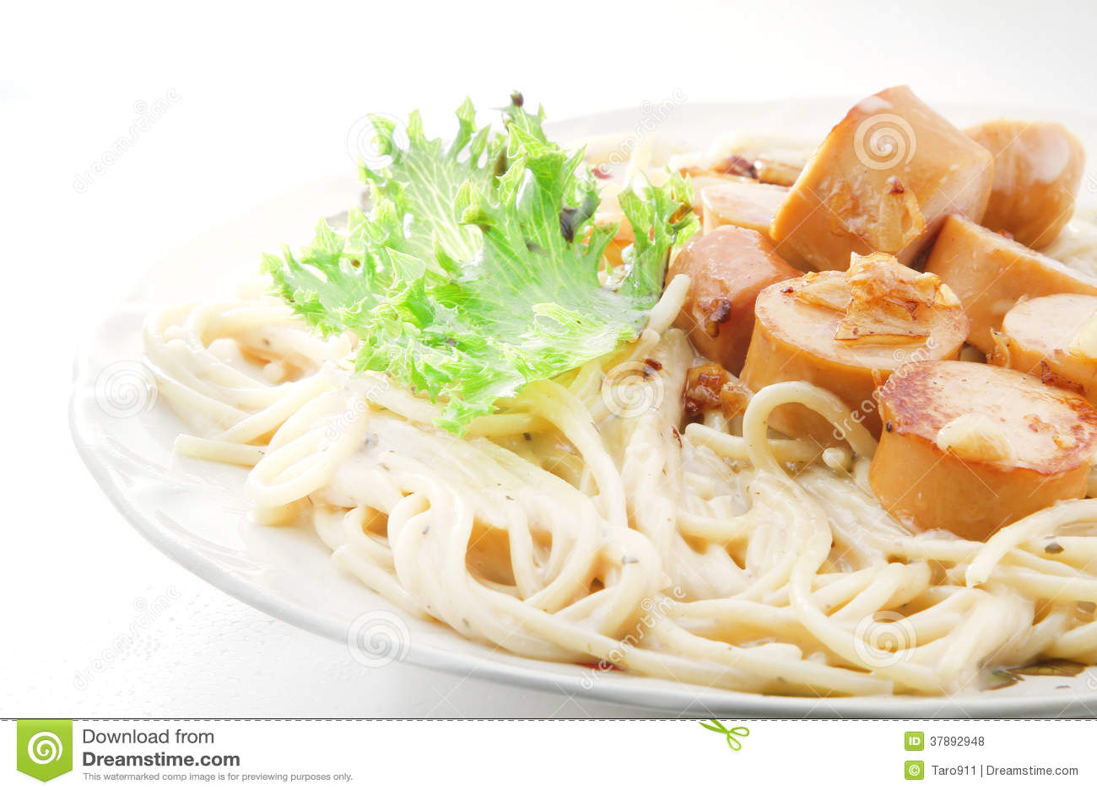 Saussage van Spagetticarbonara
