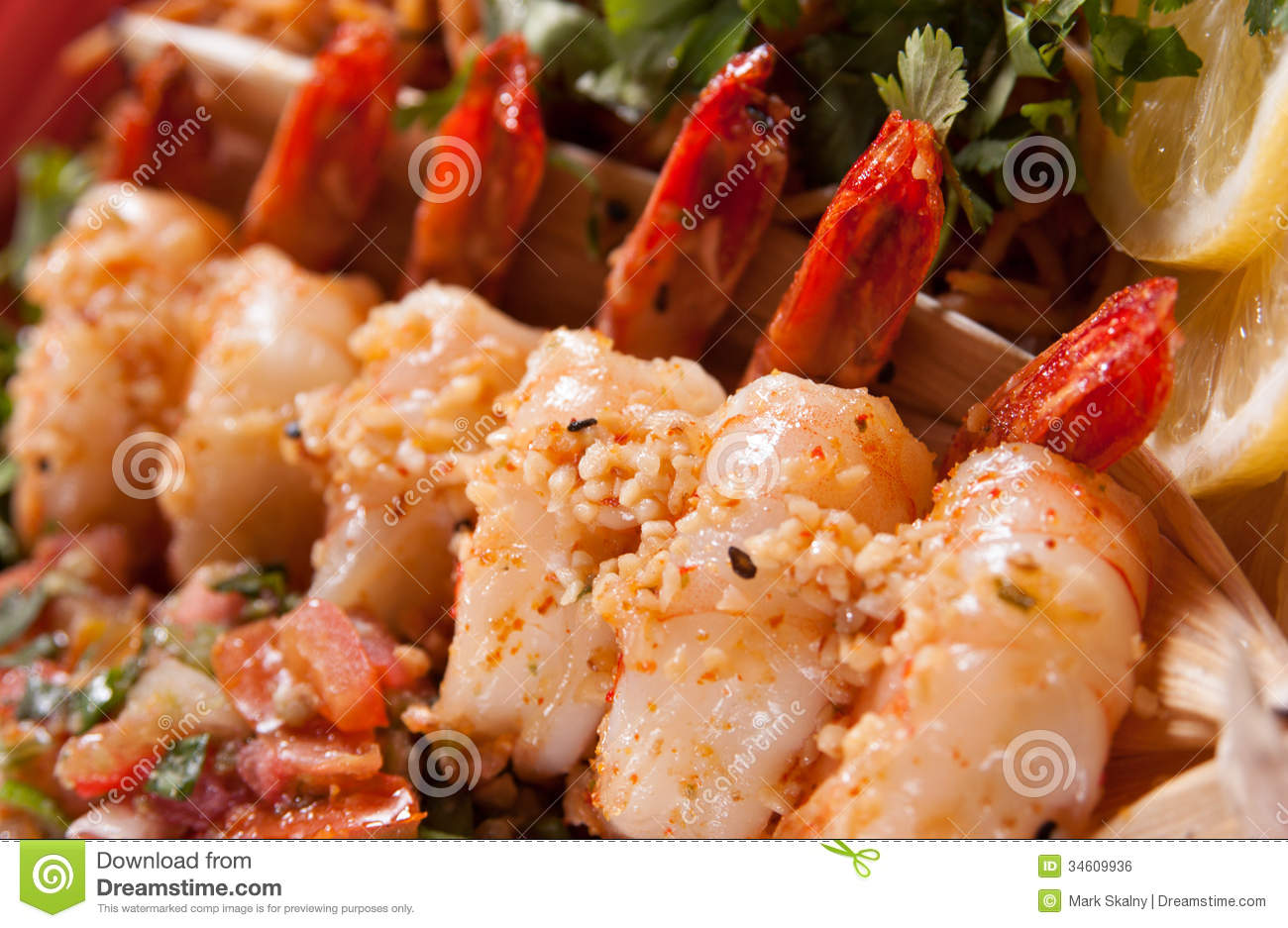 Sauteed Shrimp Royalty Free Stock Image - Image: 34609936