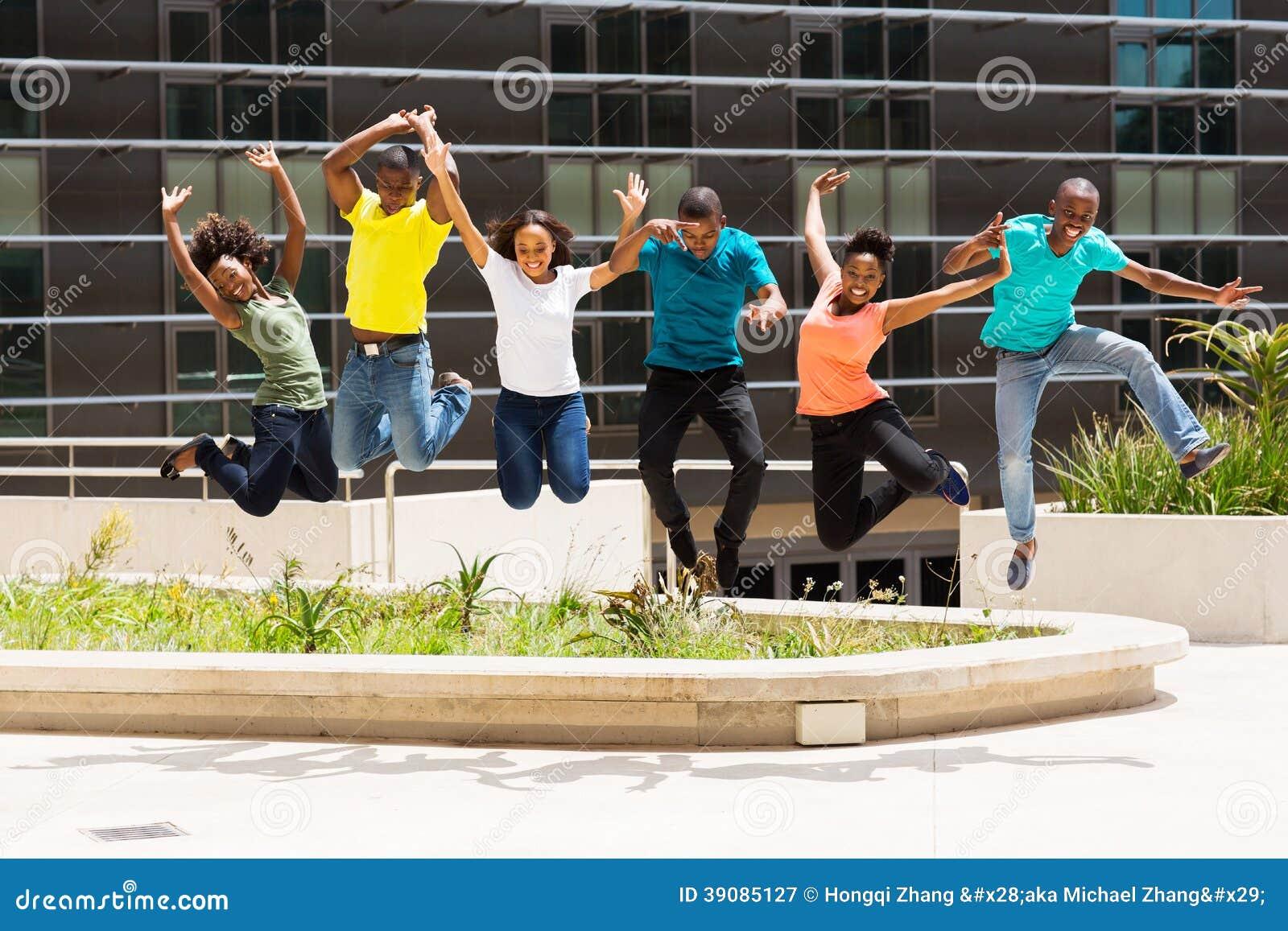 Sauter africain d étudiants universitaires