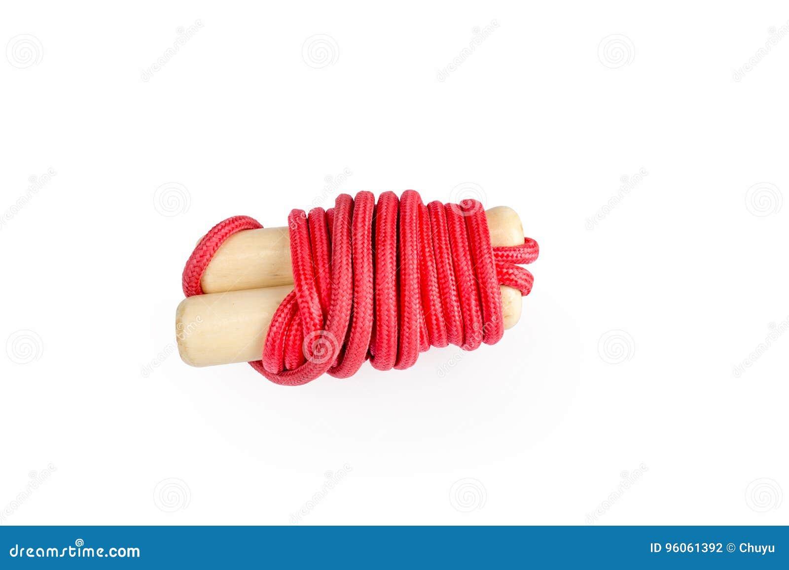 Sauter de corde rouge d isolement