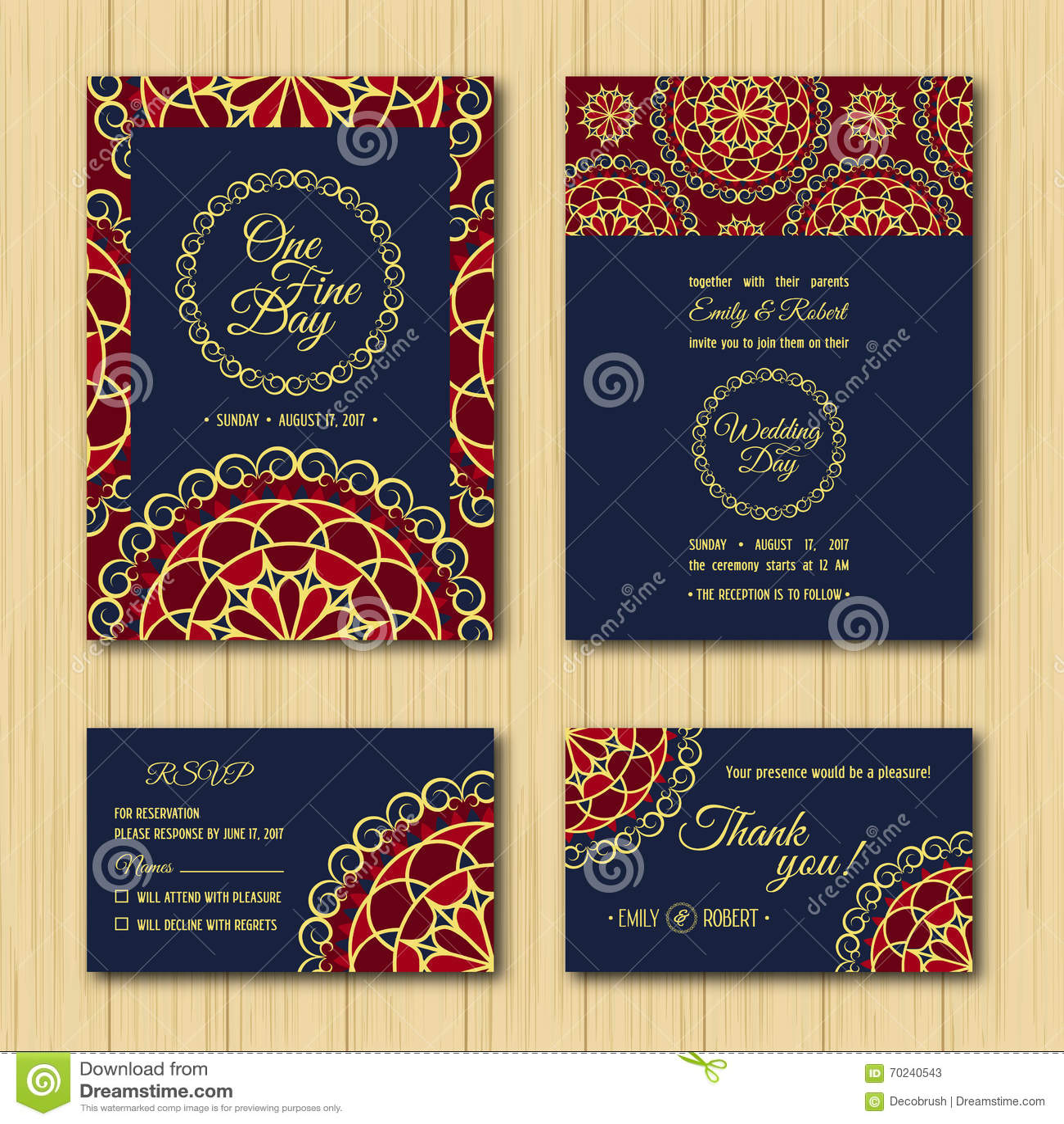 Sauvez Les Cartes De La Date Rsvp épousant La Palette Bleue Orange D