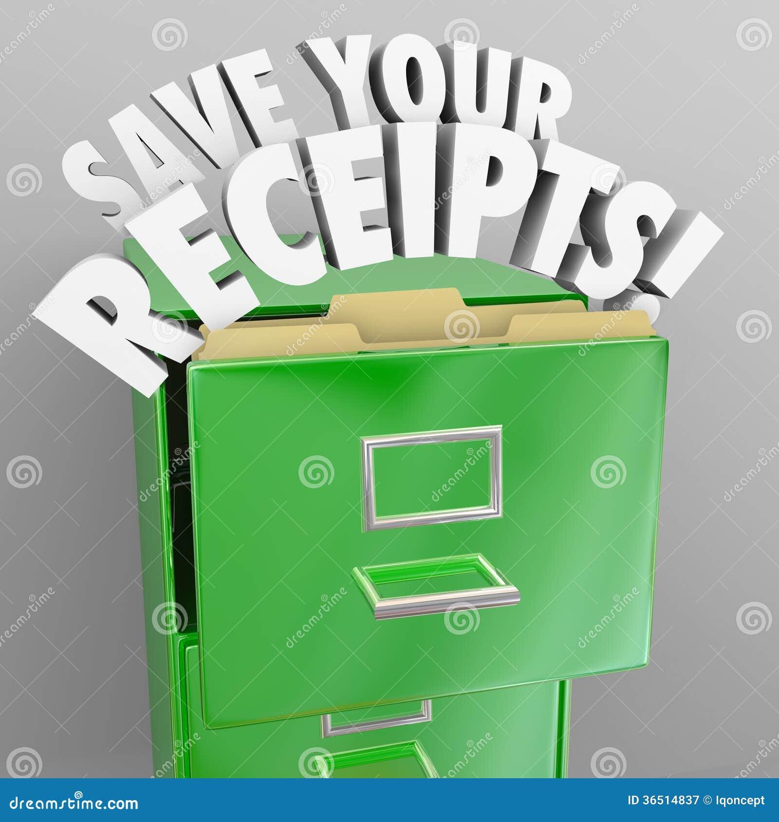 Sauvez vos disques de contrôle fiscal de classeur de reçus