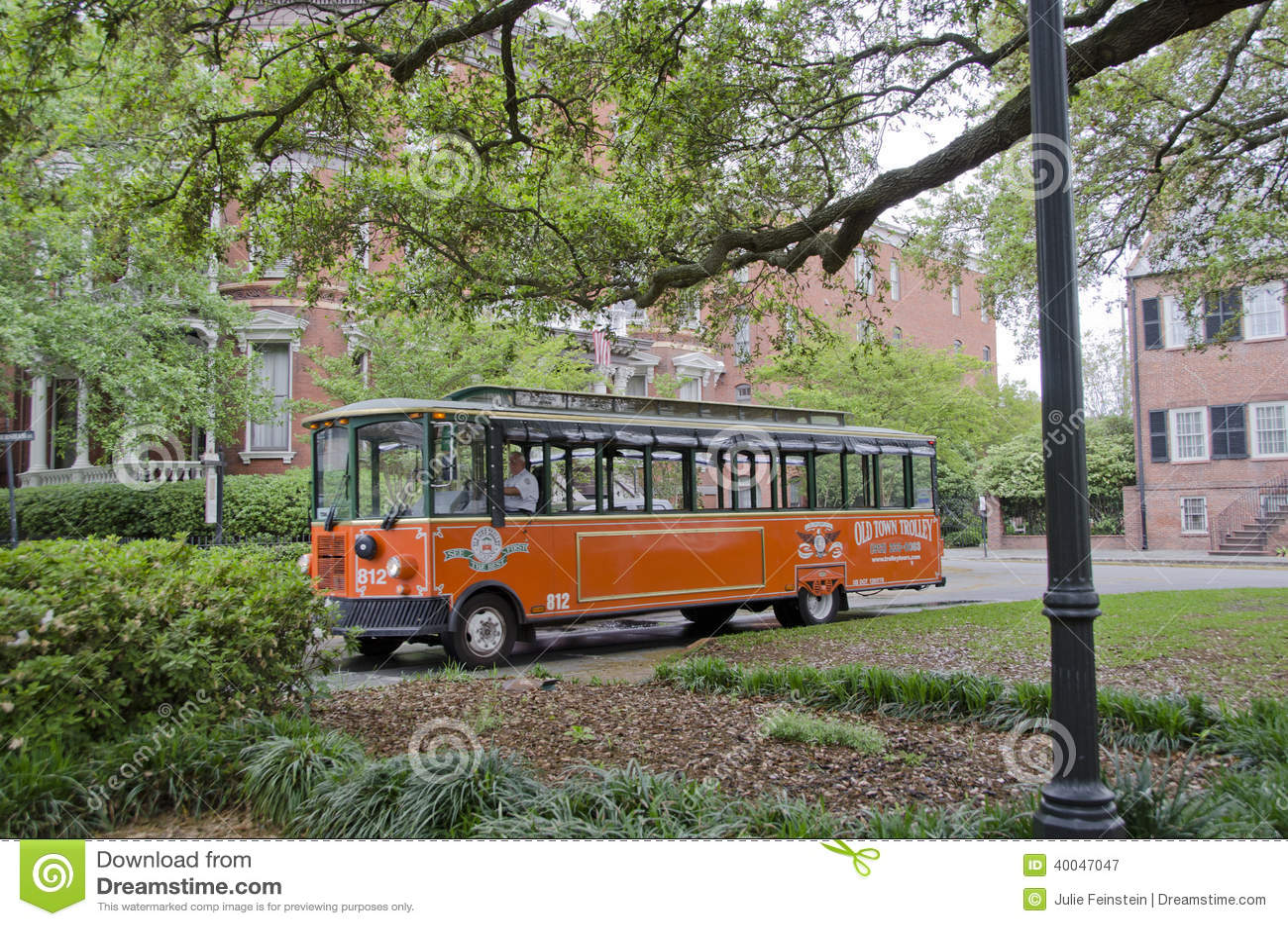 savannah trolley car editorial photo 18362681. Black Bedroom Furniture Sets. Home Design Ideas