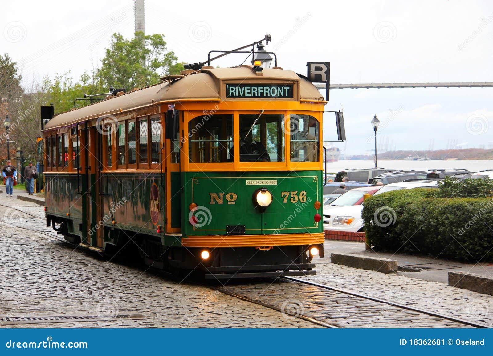 Trolley Car: Savannah Trolley Car Editorial Photo