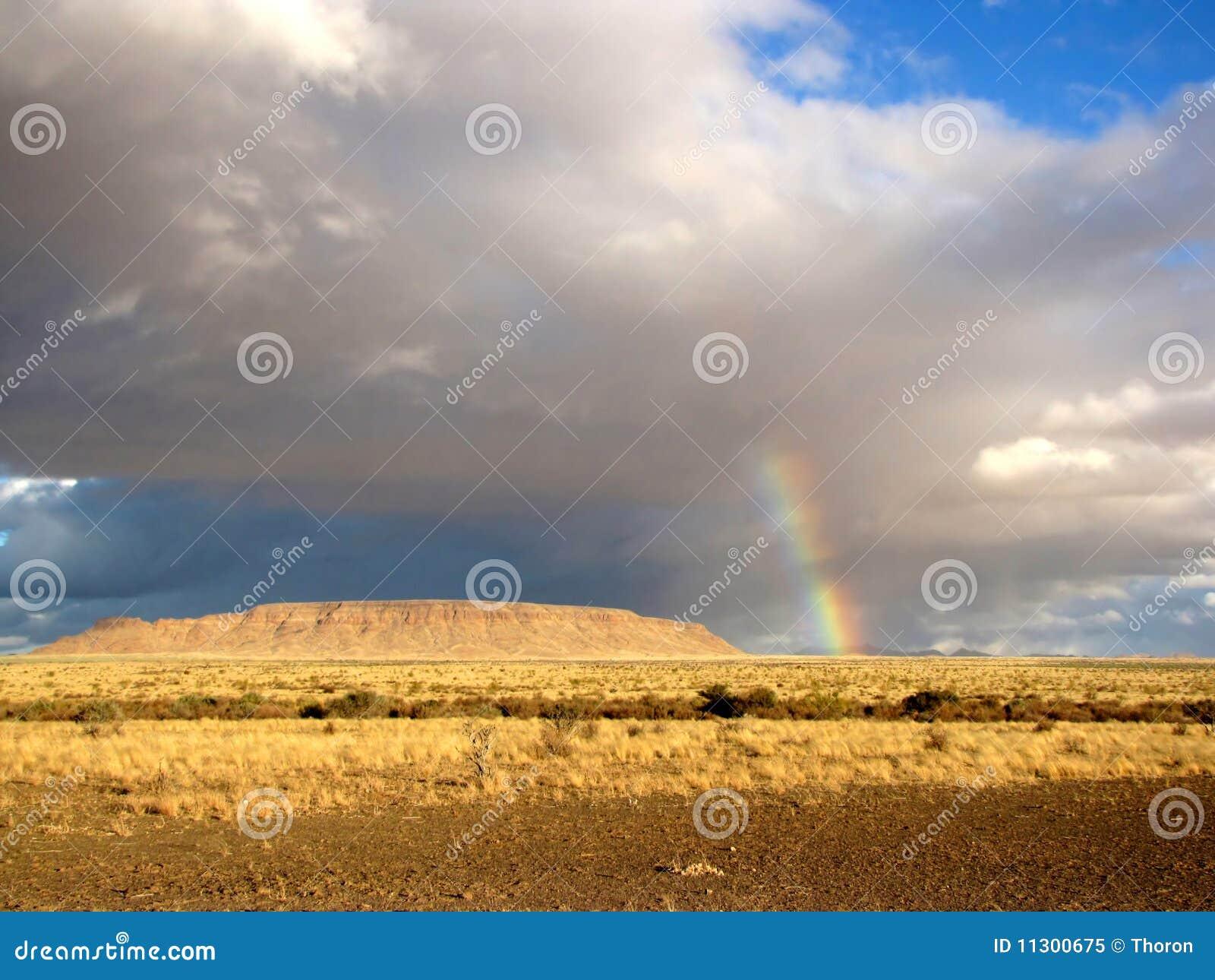 Savanne und Regenbogen