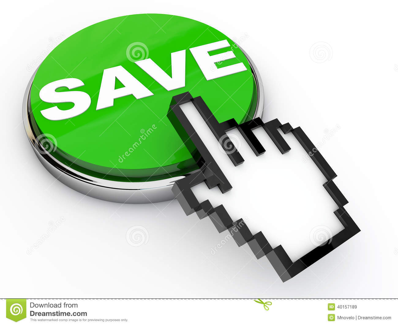 Save Button Stock Illustration - Image: 40157189