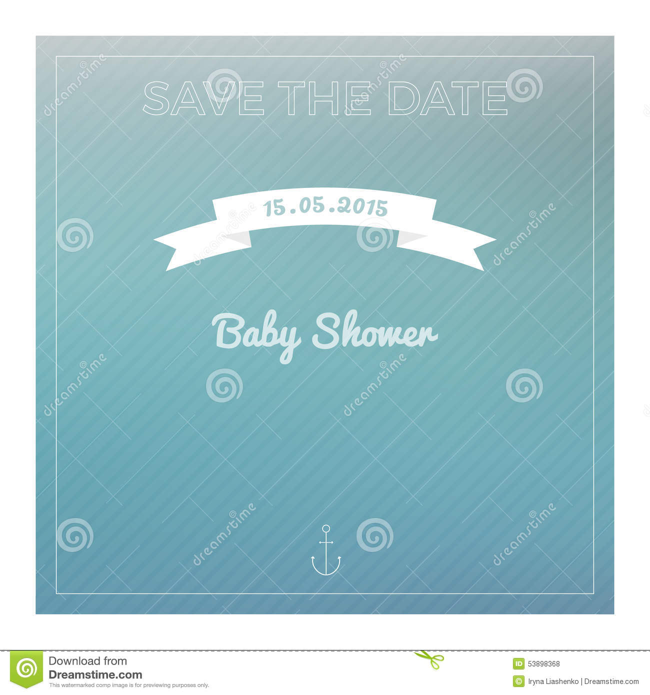 Baby Background Card Date Invitation Marine Modern Party Save Shower ...