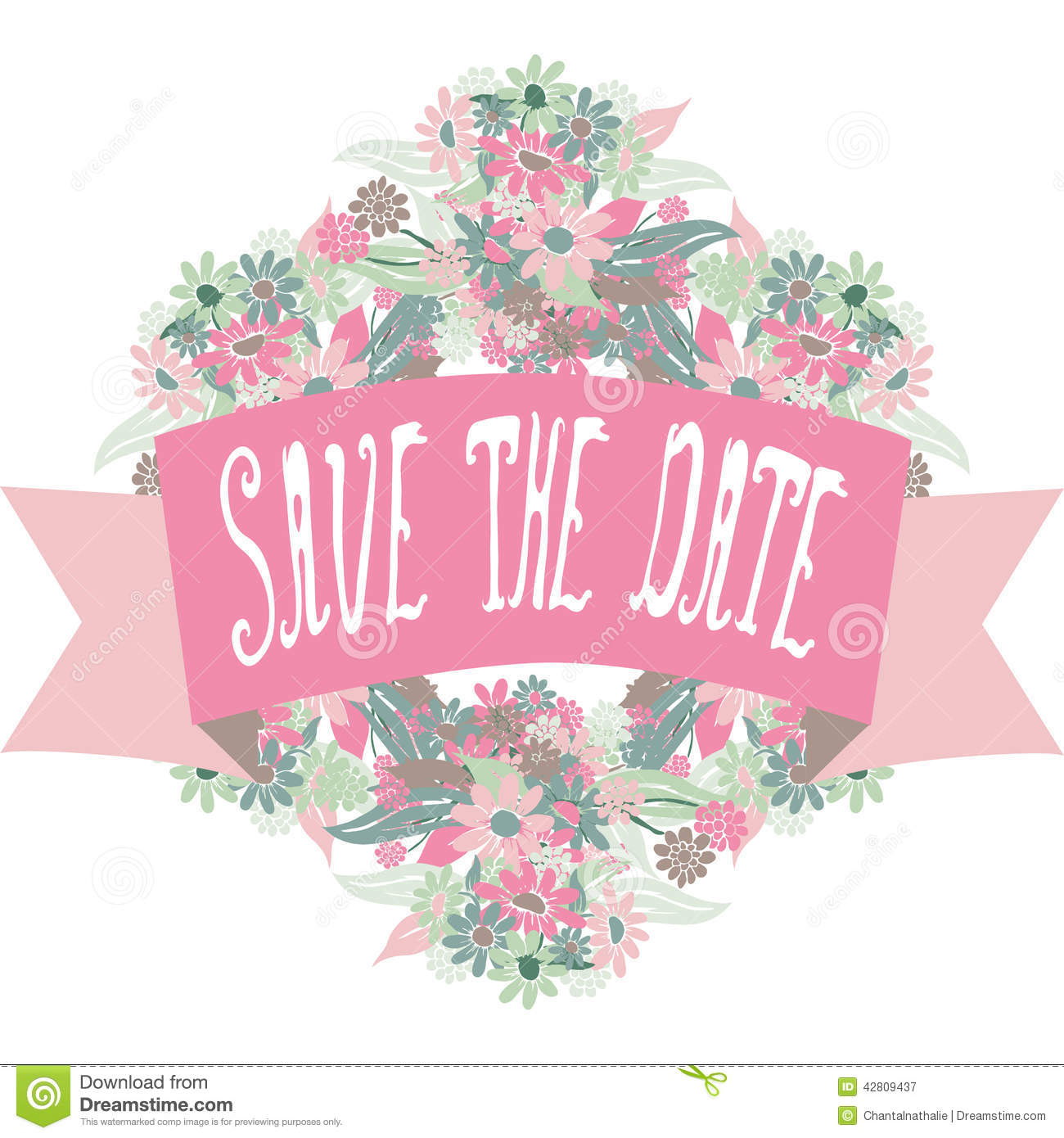 Save The Date Banner Royalty Free Stock Photography