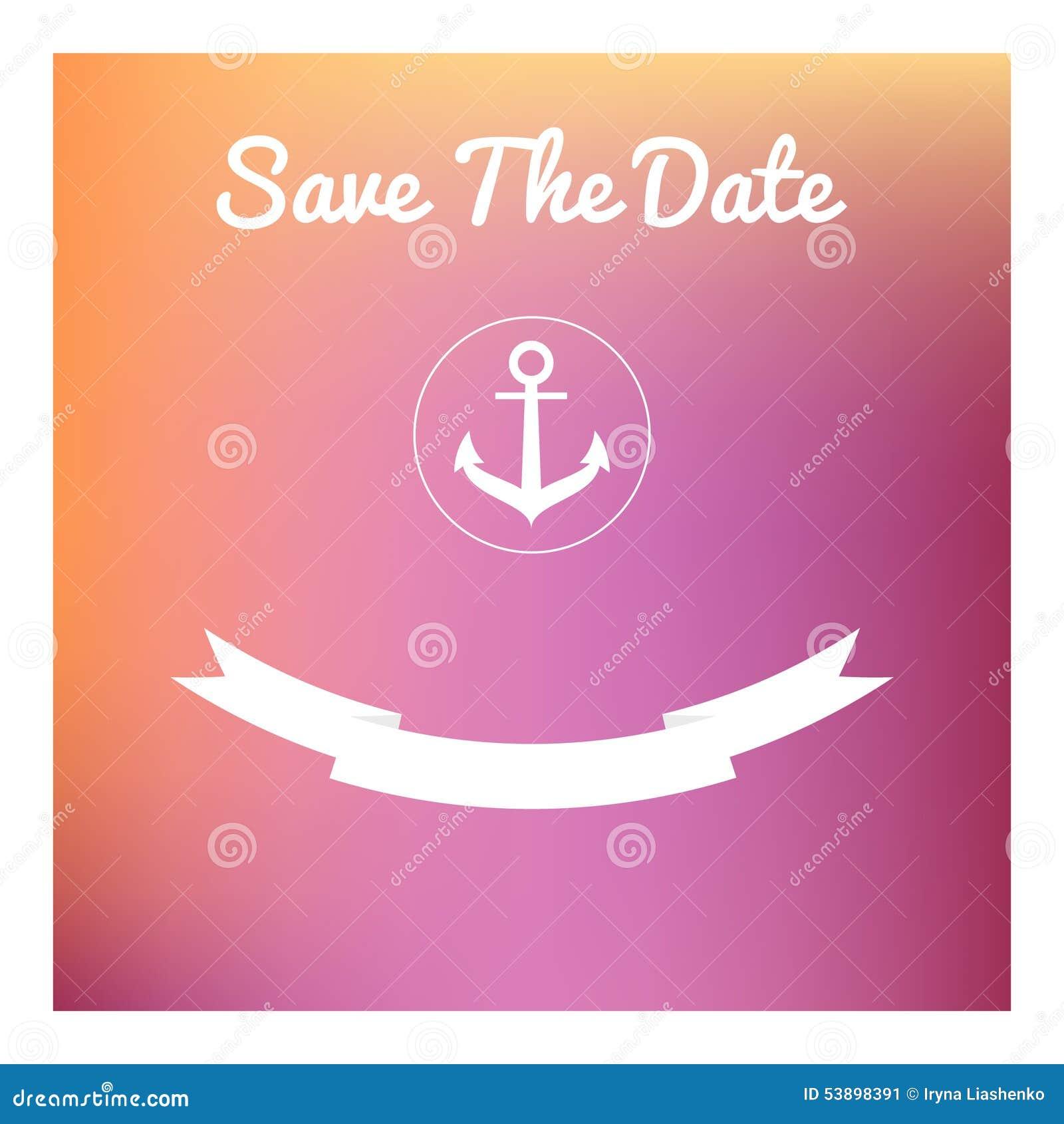 Save The Date Card Stock Illustration Illustration Of Illustration
