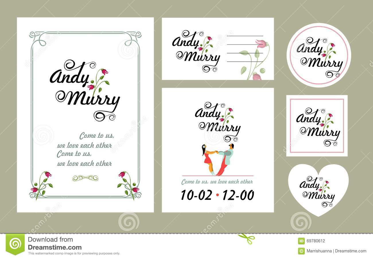 Save The Date Card Stock Vector Illustration Of Celebration