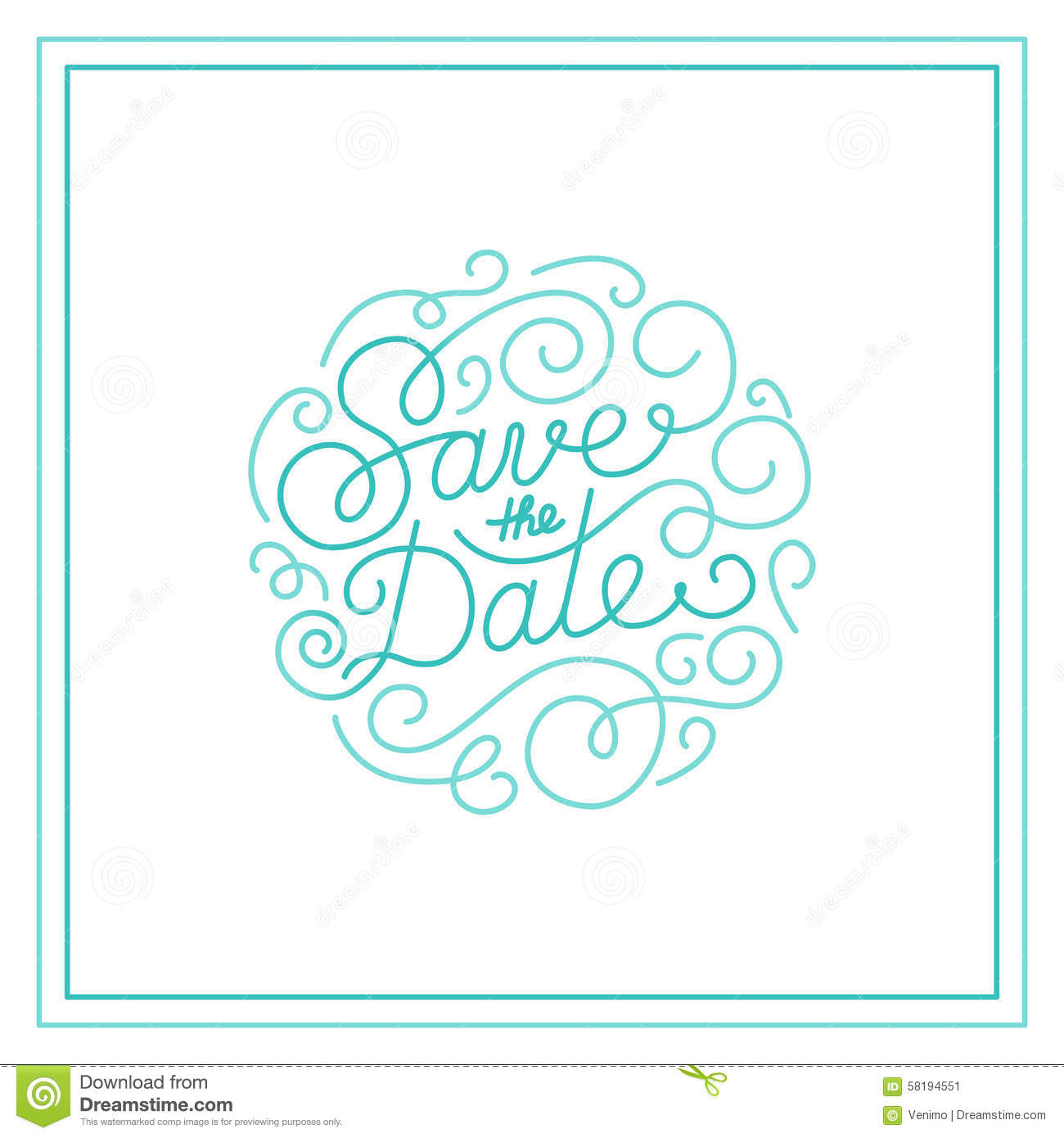 save the date card stock vector illustration of element 58194551