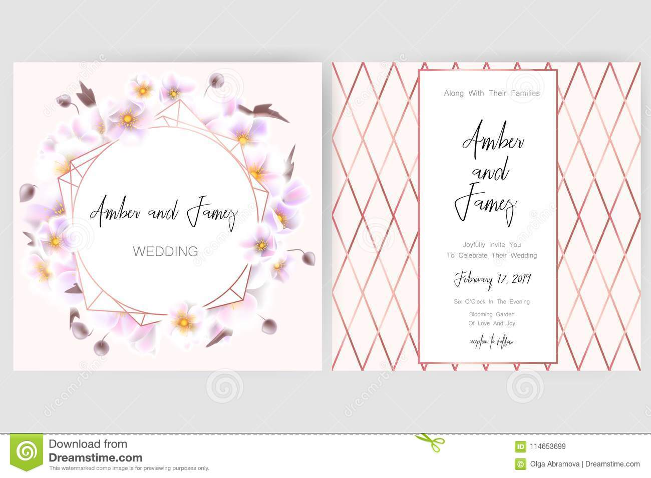 Save The Date Card Wedding Invitation Greeting Card With
