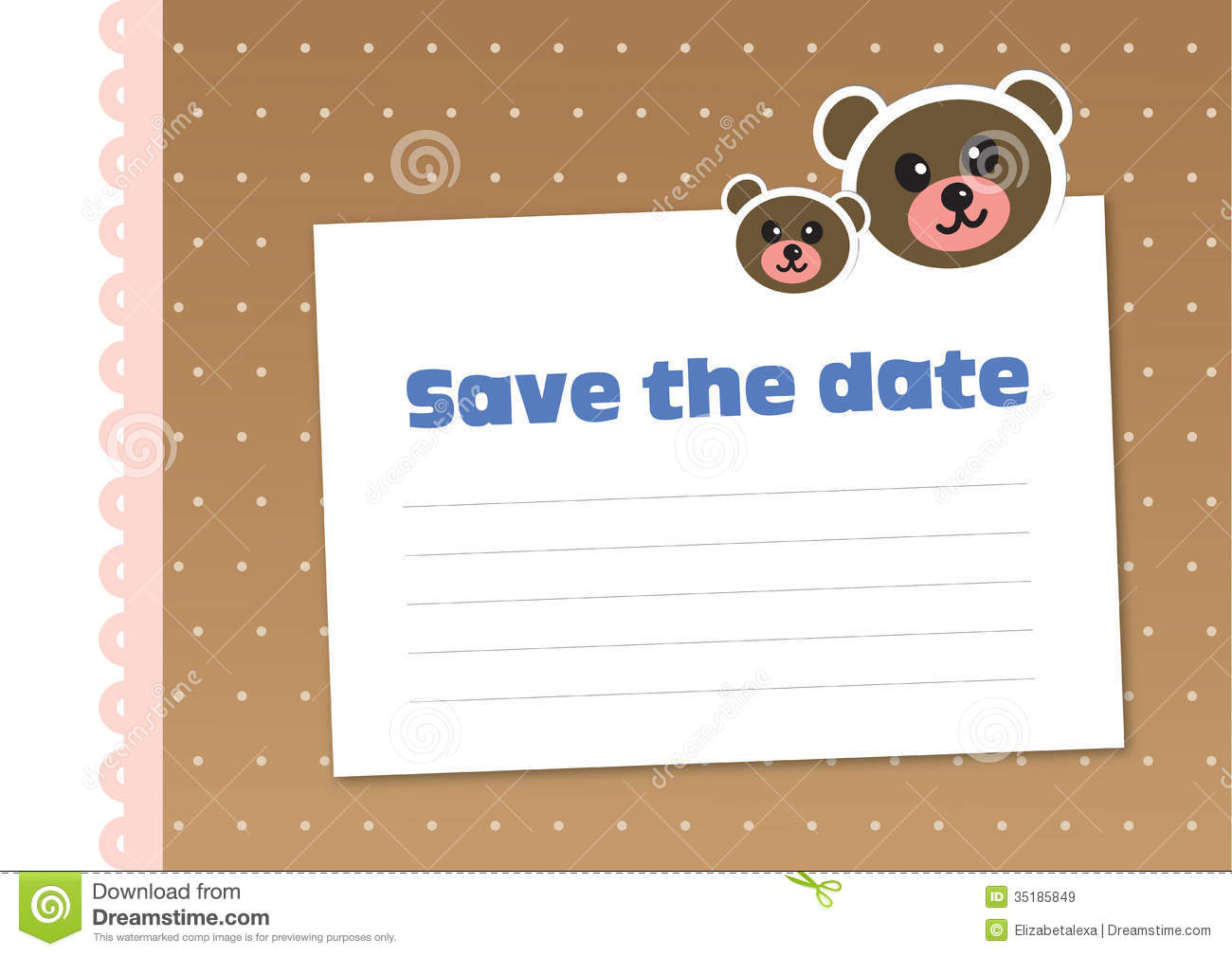 save the date children s style stock vector illustration of