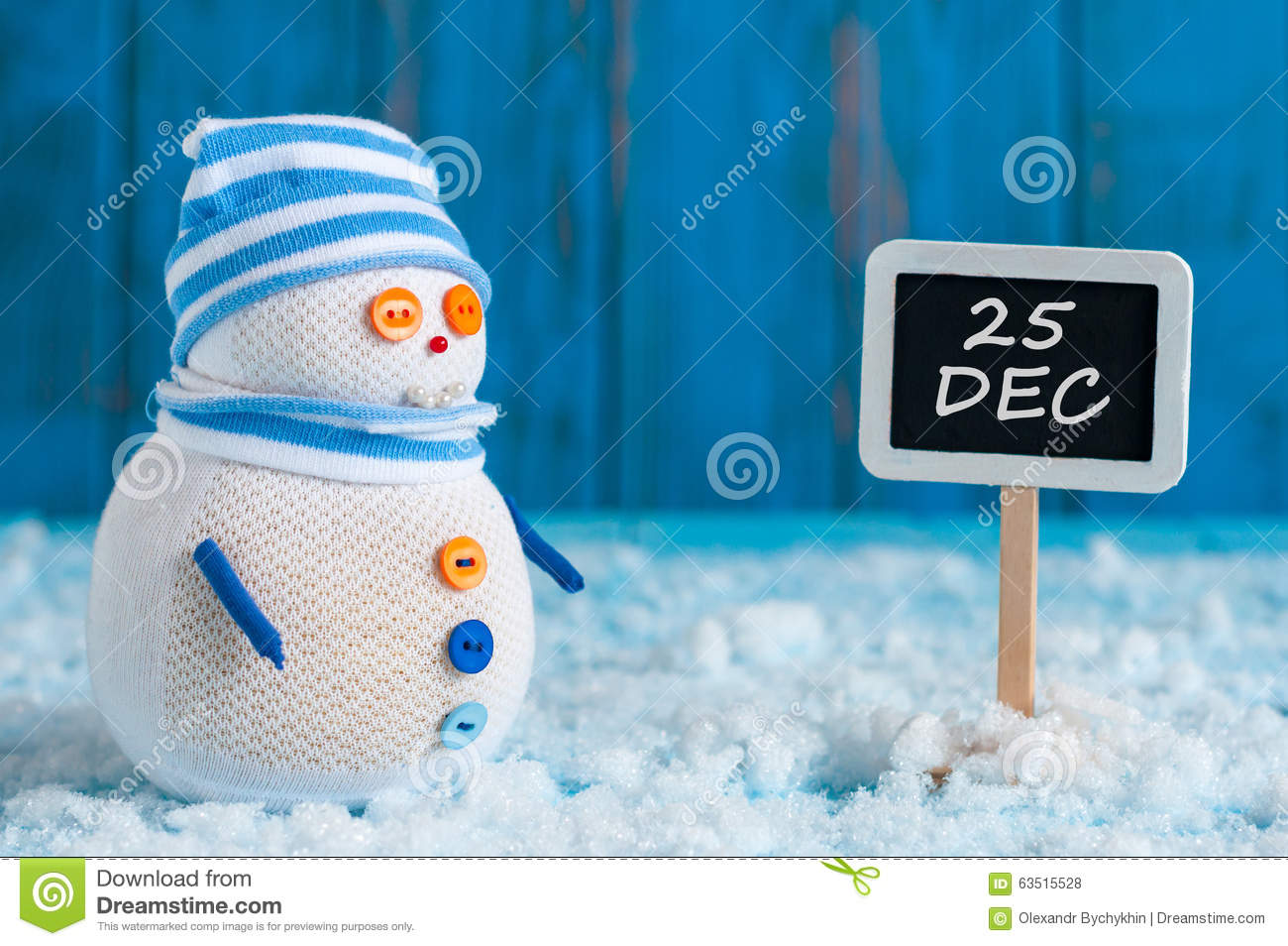 Save The Date For Christmas Day With This Handmade Snowman Stock ...