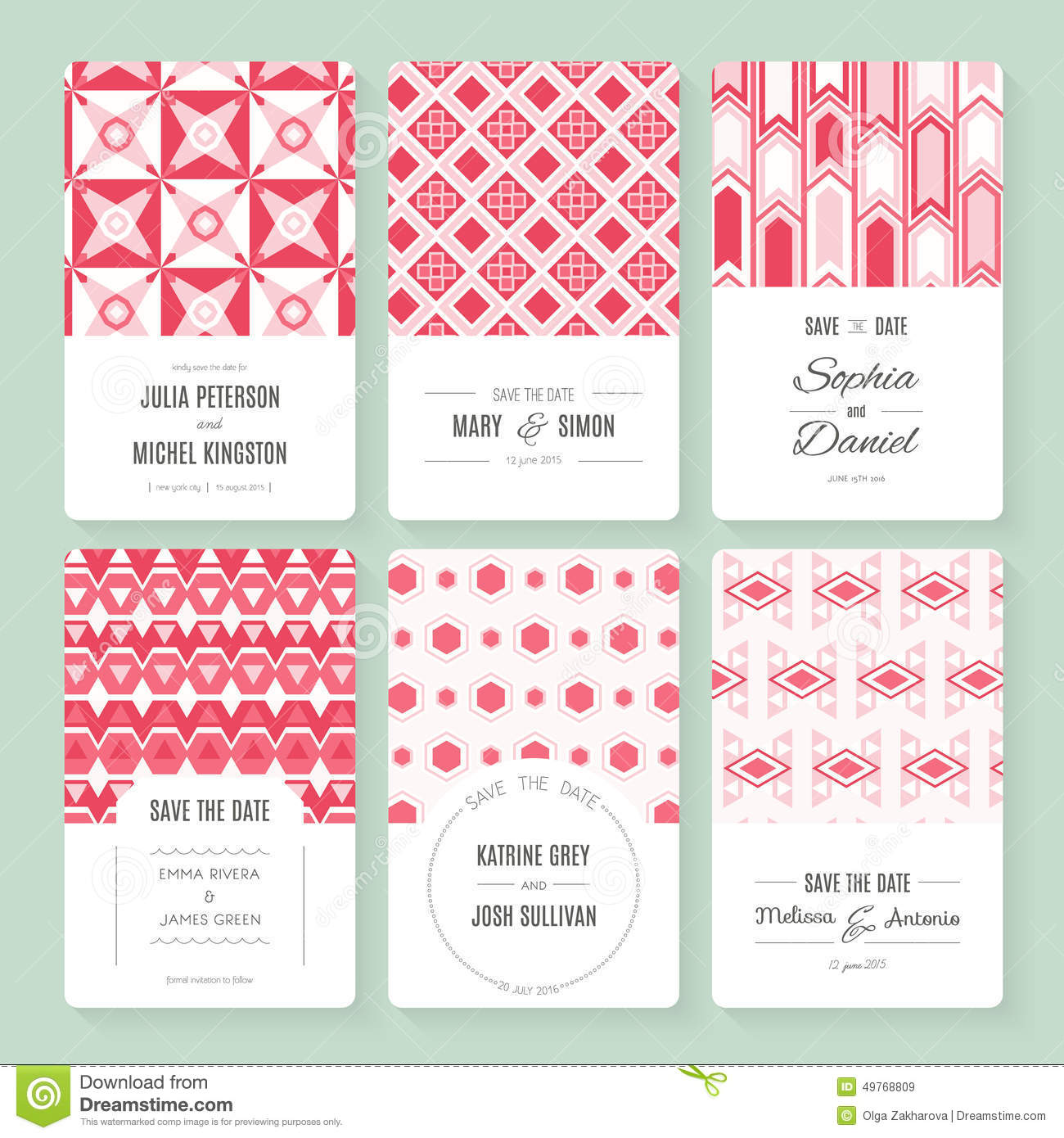 Save the date collection stock vector illustration of card 49768809 save the date collection card decoration bookmarktalkfo Images