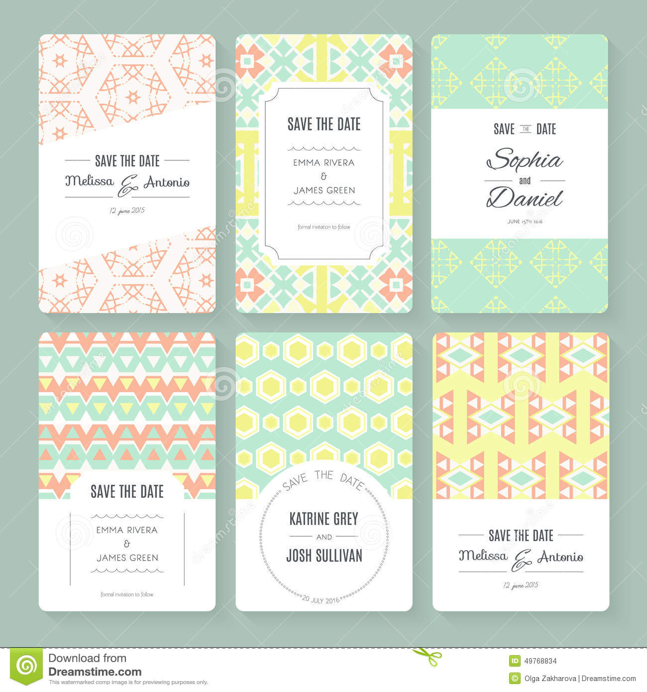 Save The Date Collection Stock Vector - Image: 49768834