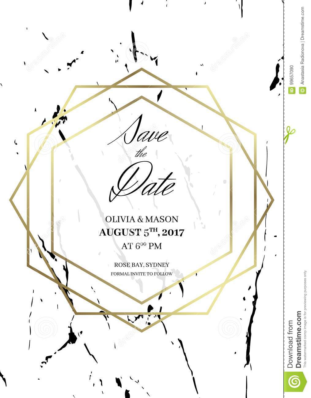 save the date design template for getting married stock vector