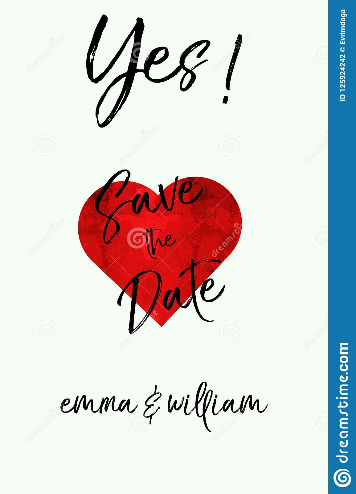 Save The Date, Hand-drawn Labels For Postcards Design Wedding ...