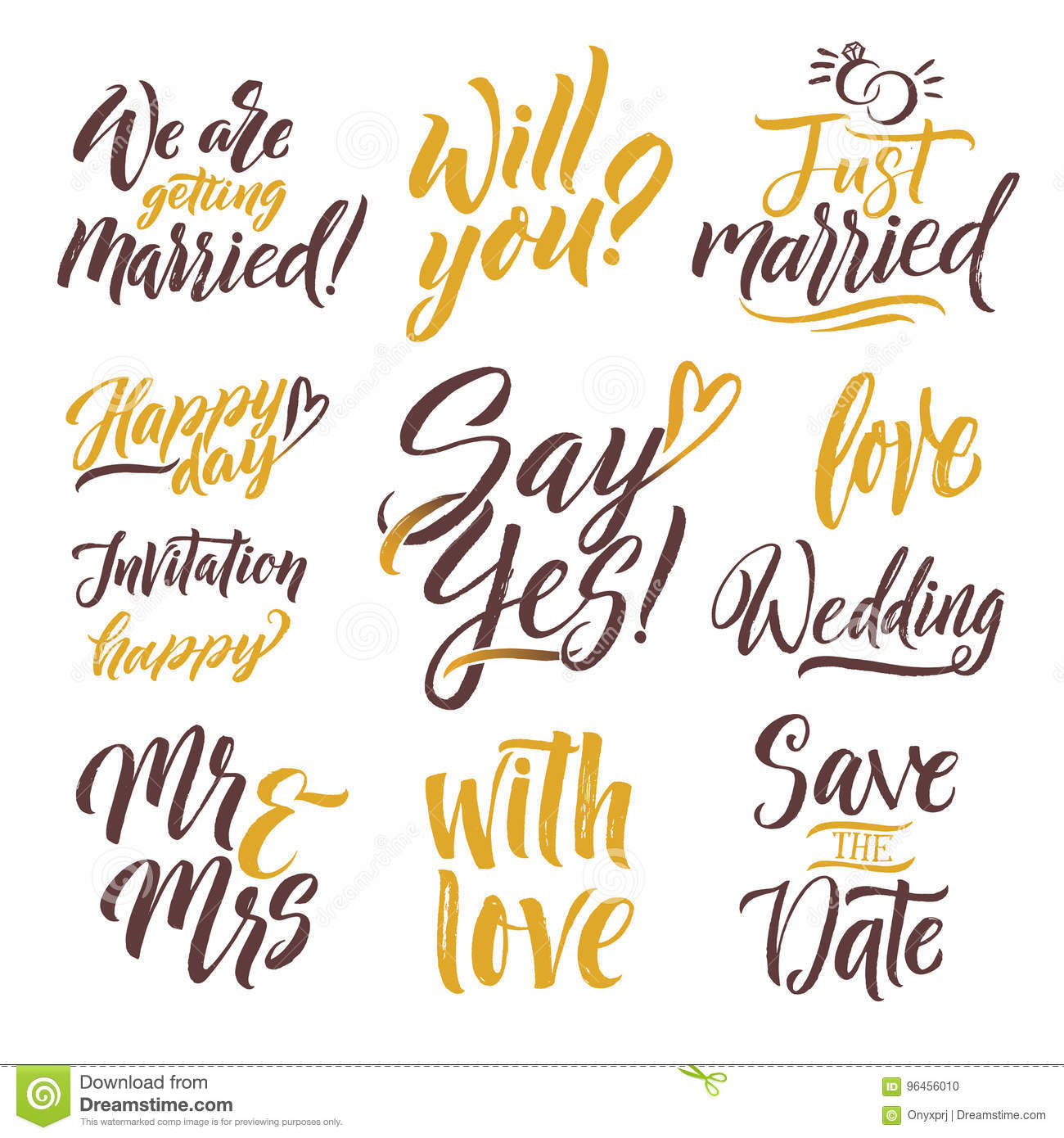 download save the date hand drawn letters lettering set with different words of invitation