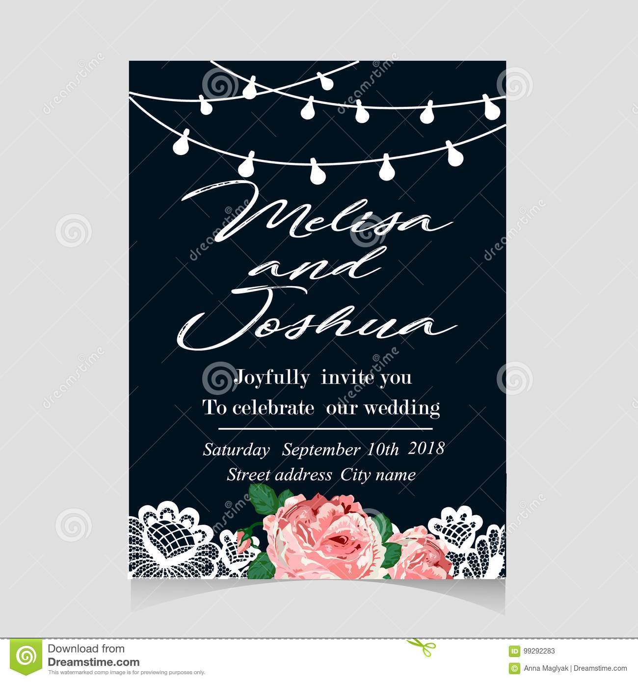 Save the date invitation card with holiday stock vector download save the date invitation card with holiday stock vector illustration of decoration light stopboris Images
