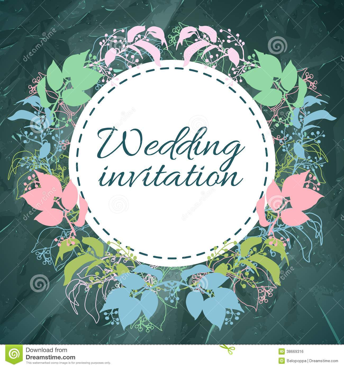 Save The Date Invitation Template Royalty Free Stock Image - Image ...