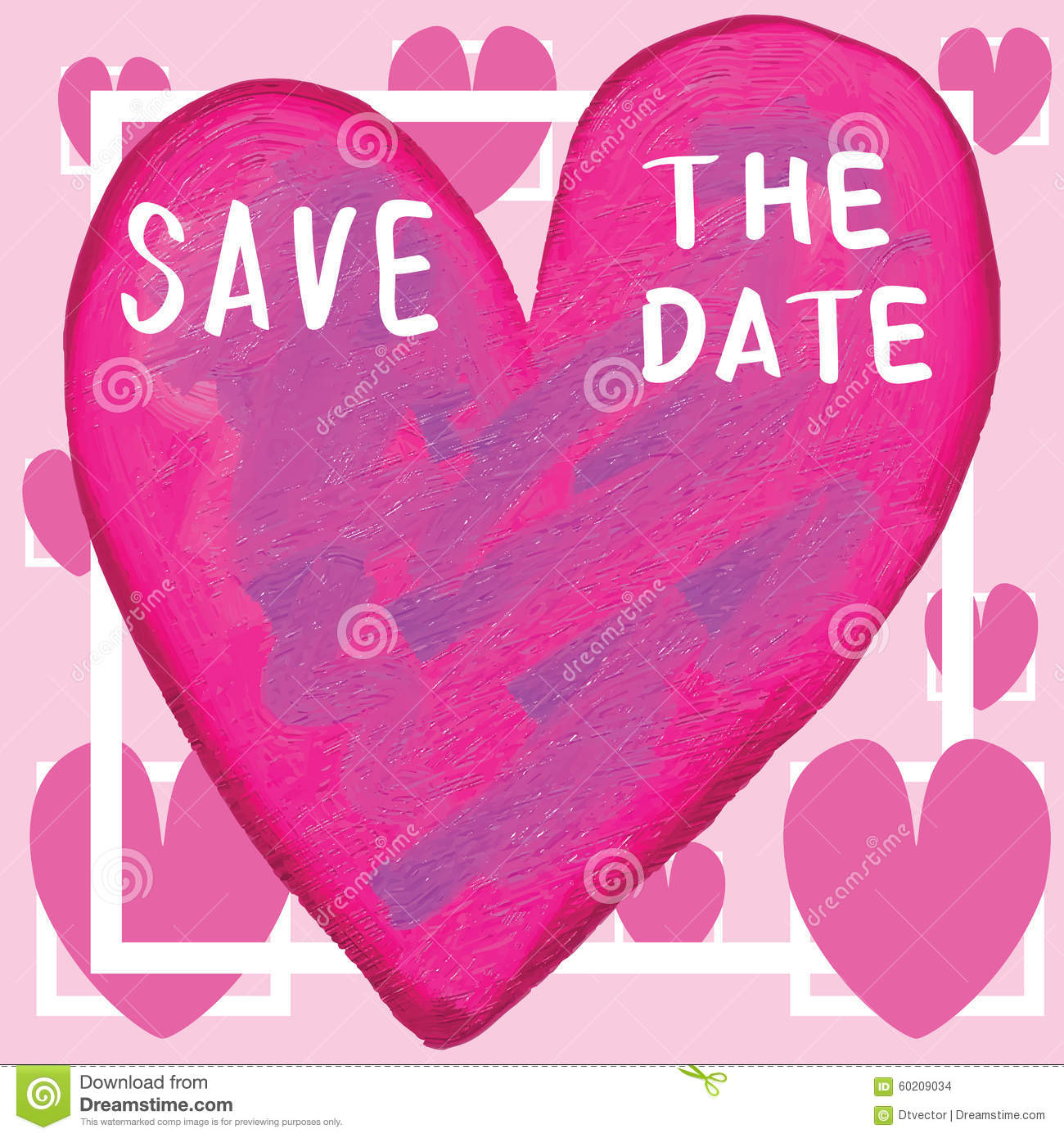 save the date love frame