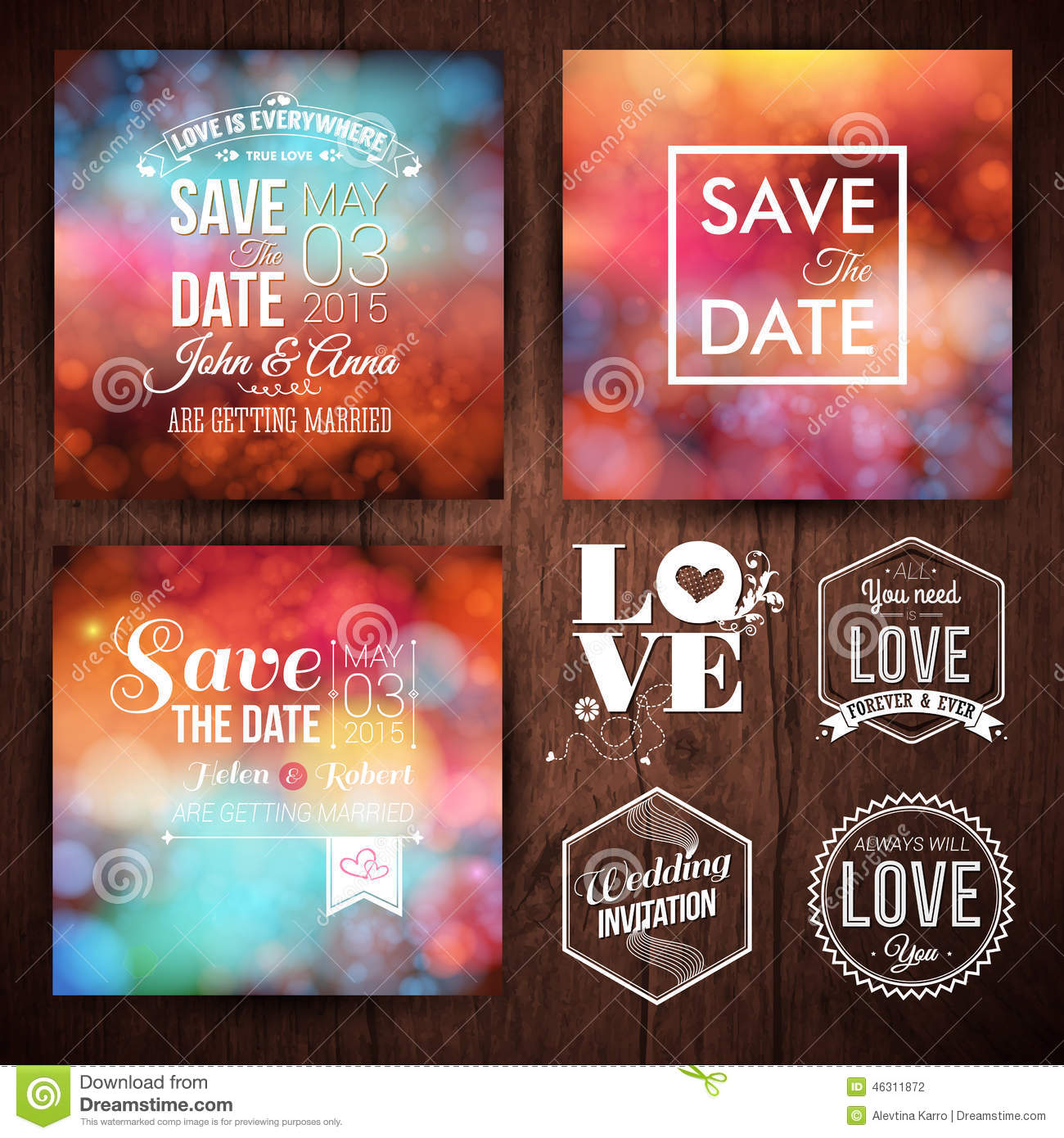 Save The Date For Personal Holiday Cards. Wedding Invitation Set ...