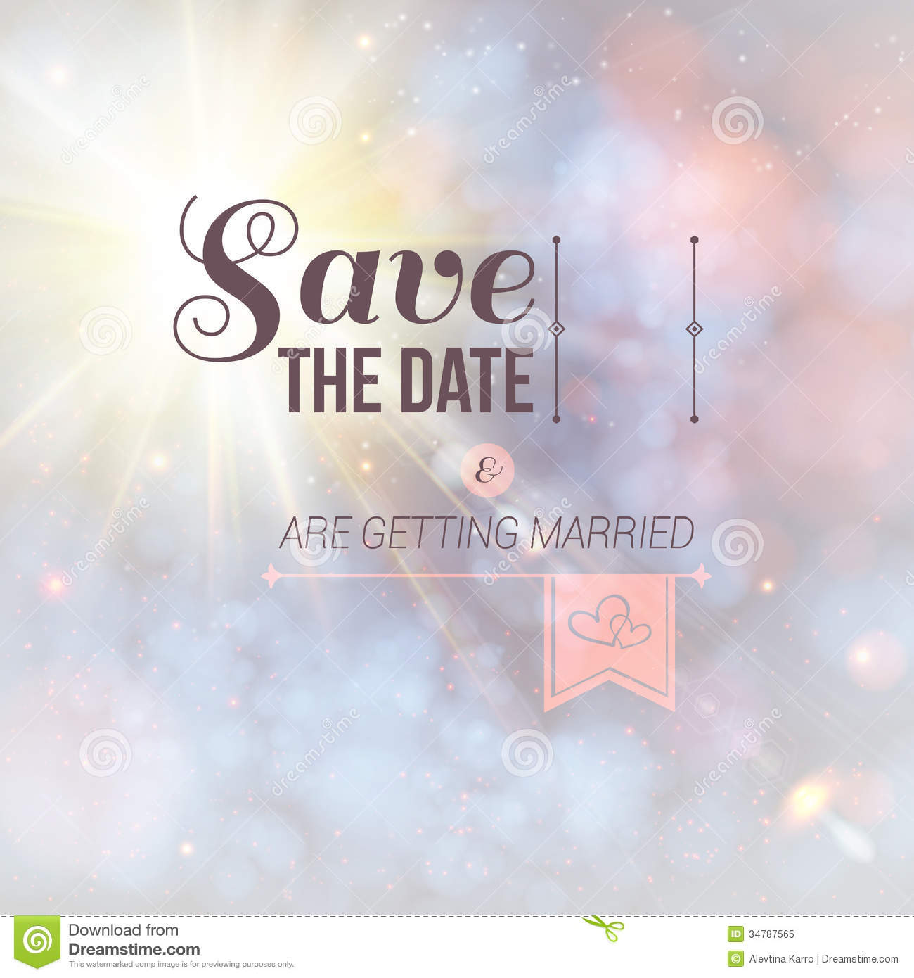 Save The Date For Personal Holiday Stock Illustration - Holiday save the date templates free