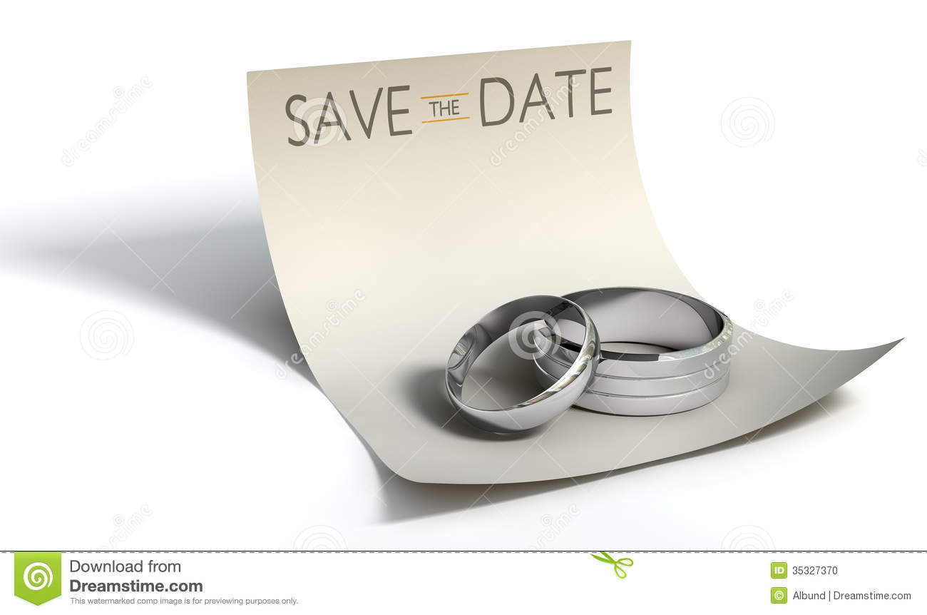 White Paper With Silver Wedding Rings