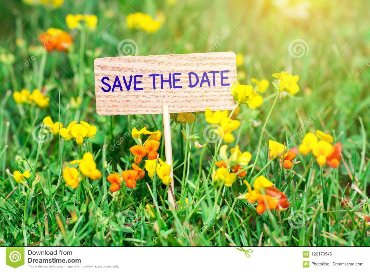Save the date signboard