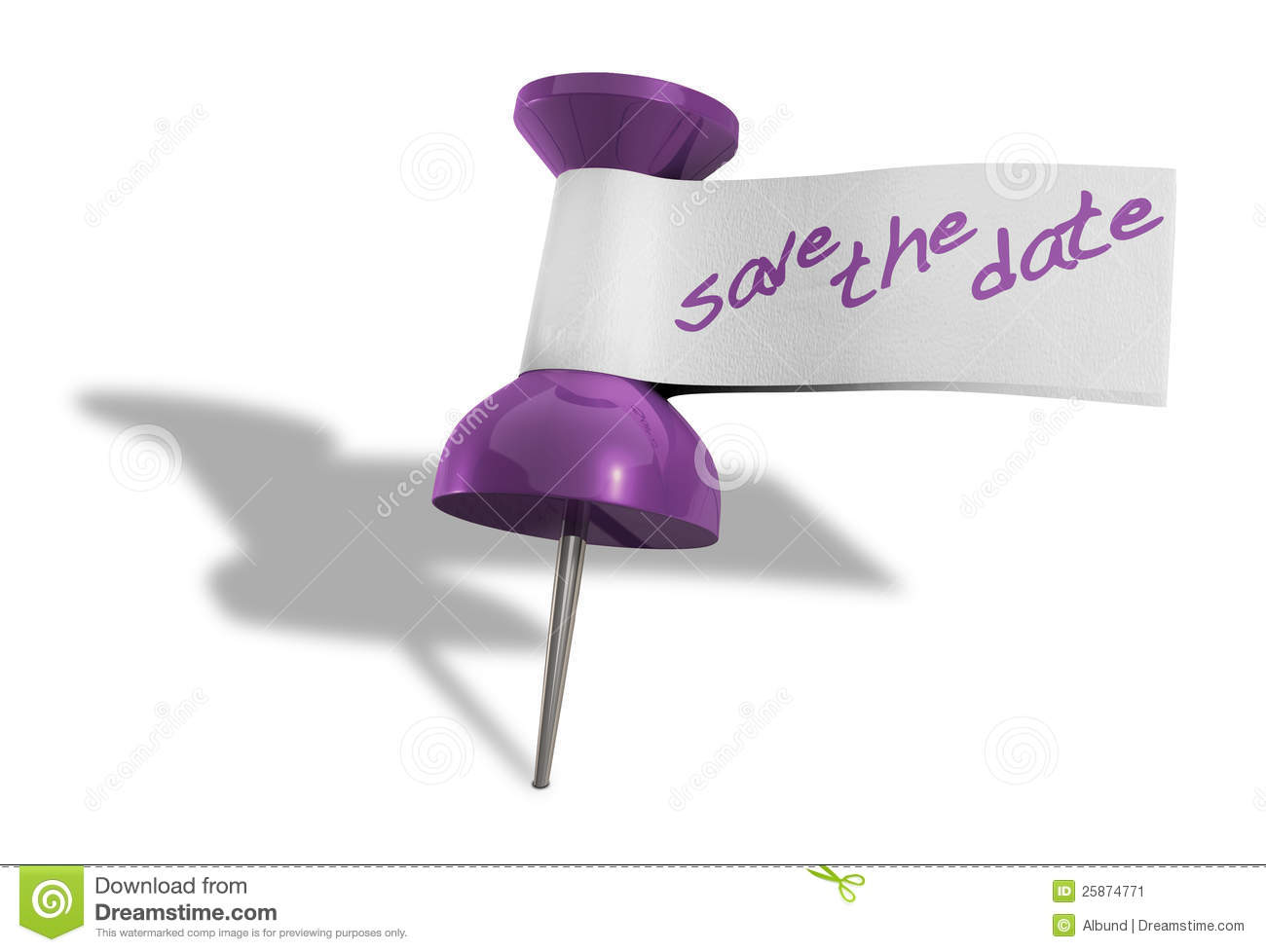 Save The Date Thumbtack Stock Image Image 25874771