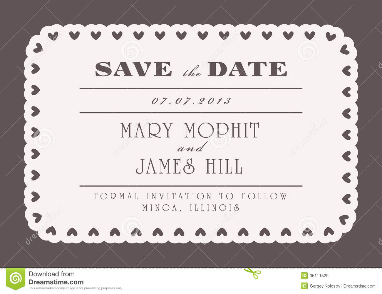 Save the date with vintage background artwork royalty free for Free vintage save the date templates