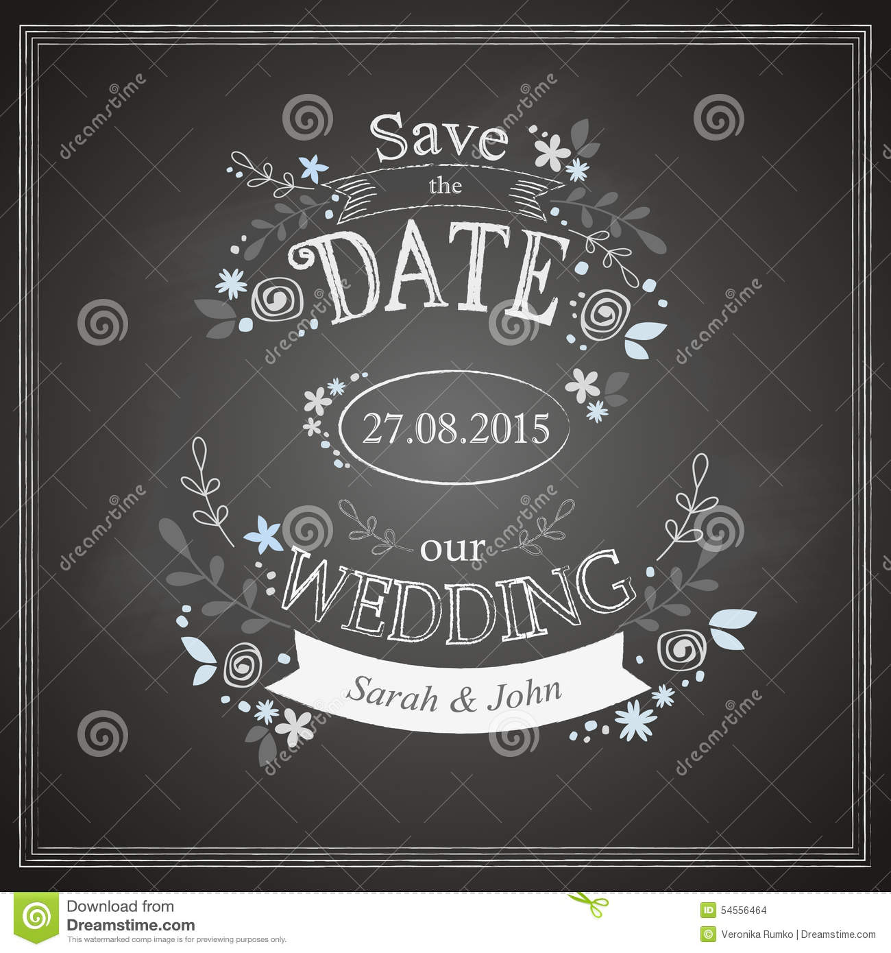 save the date wedding card stock vector illustration of abstract