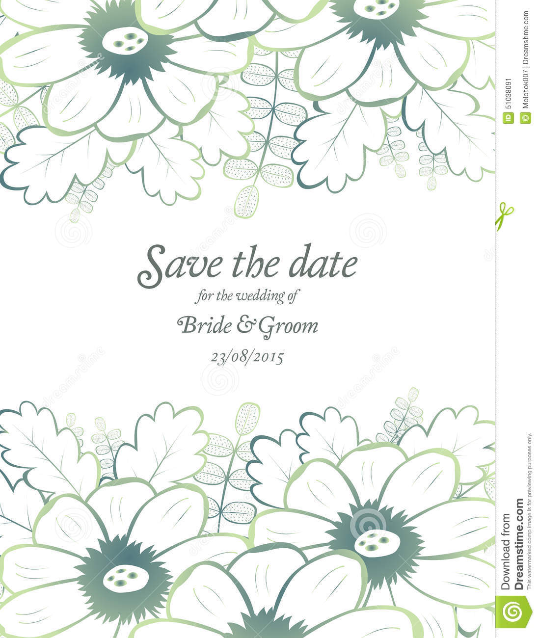 Save The Date Wedding Invite Card Template Vector Image – Invite Card
