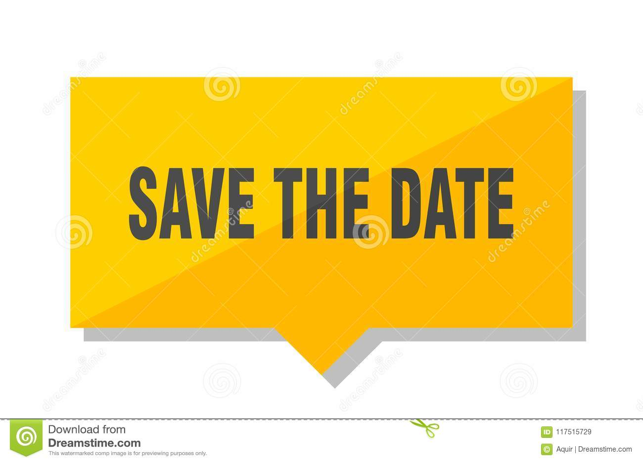 Save the date price tag