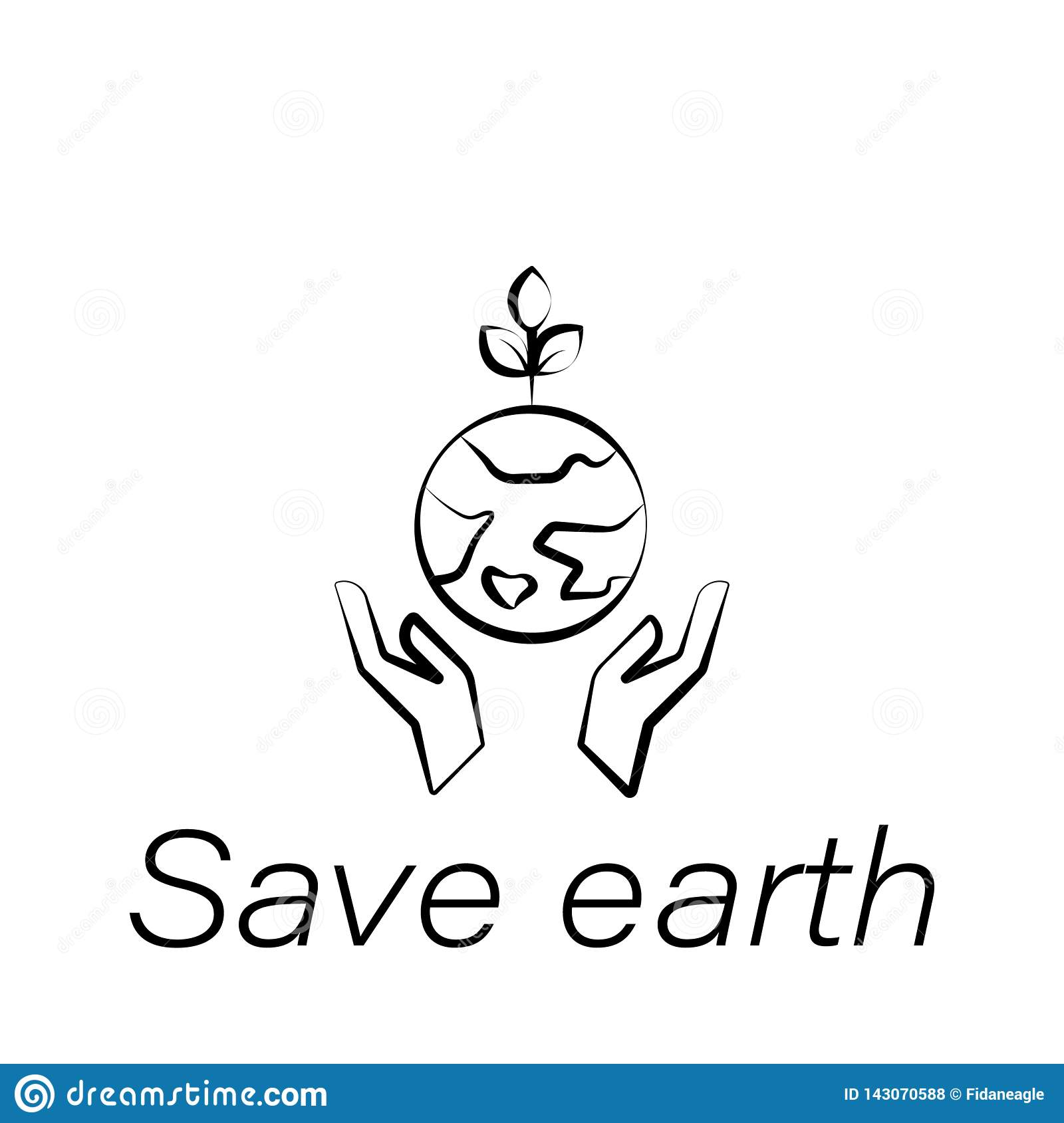 Save Earth Hand Draw Icon Element Of Farming Illustration Icons