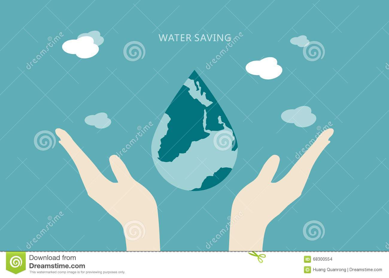 save earth   water concept stock image