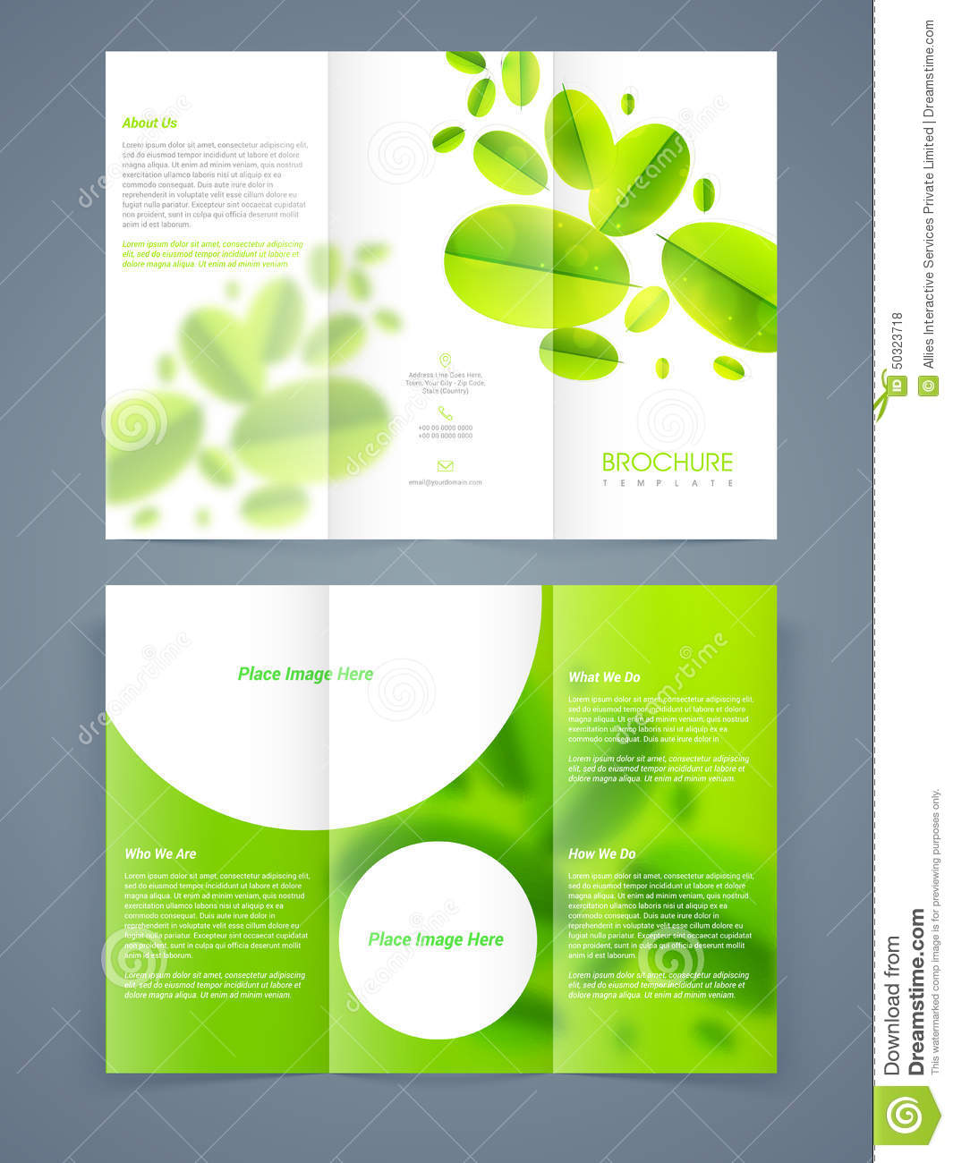 brochure templates pages - save ecology brochure template or flyer design stock
