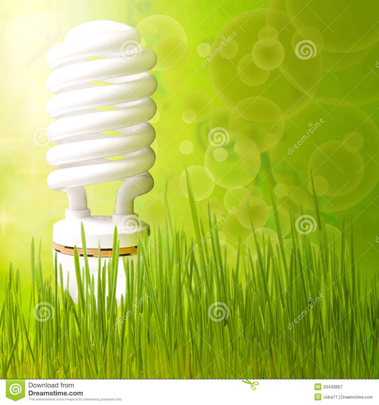 Save Energy Concept Background Abstract Green Royalty Free