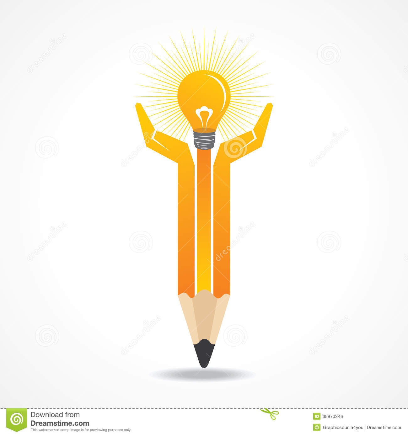 Save energy concept with pencil hands
