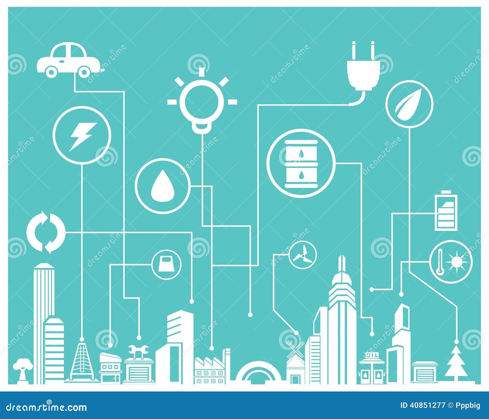 Save Energy Info Graphic Stock Illustration Image 40851277