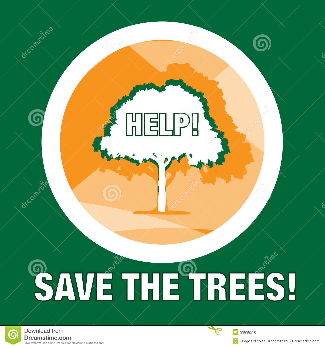 Save the forest / trees print or logo