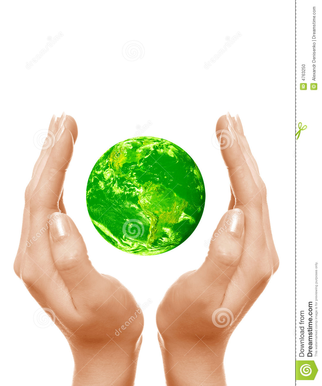 Save The Green Planet Stock Photo Image Of Fingers Life 4763250