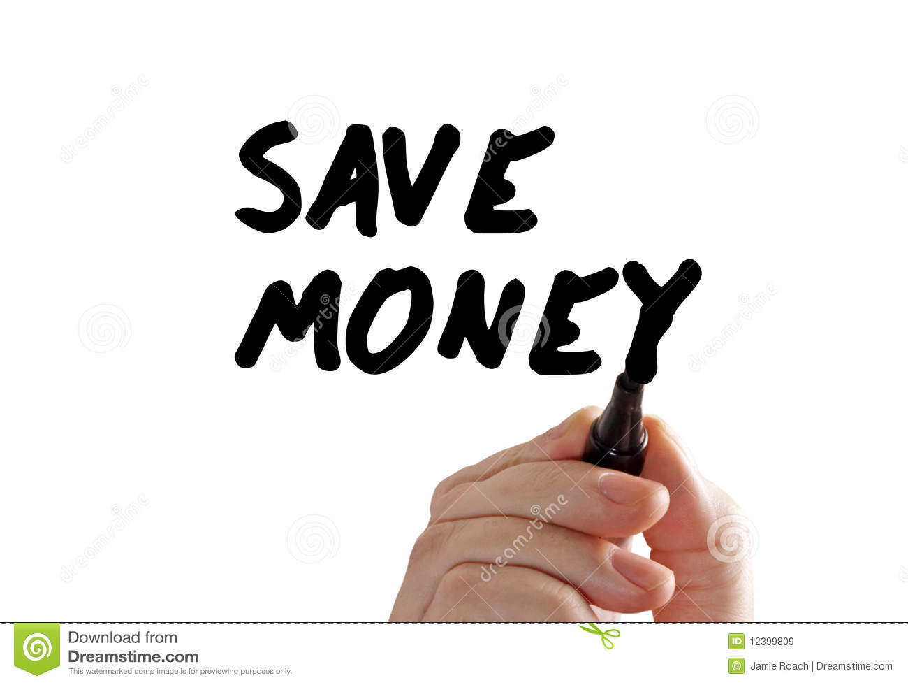 Save Money Hand Marker