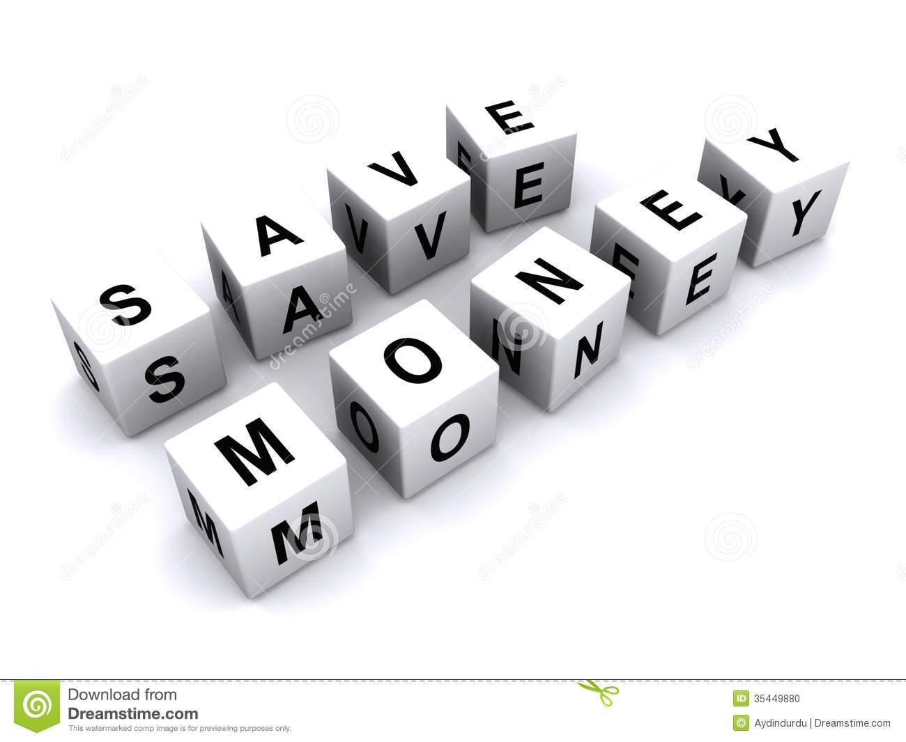 Save Money Message A Created By Using Black Upper Case