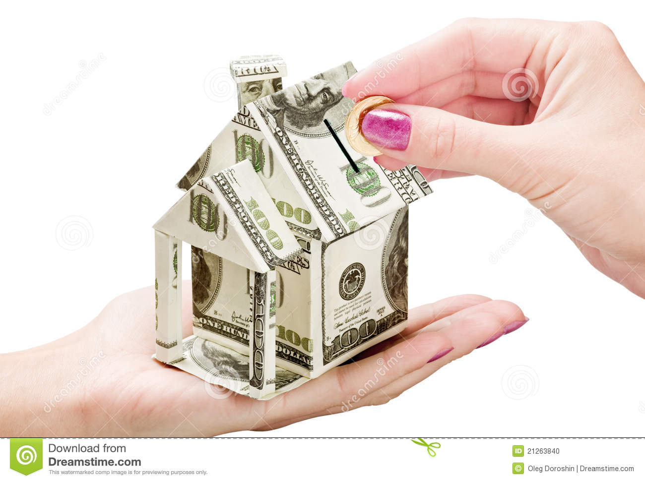 Save Money On A New House Stock Photo Image 21263840