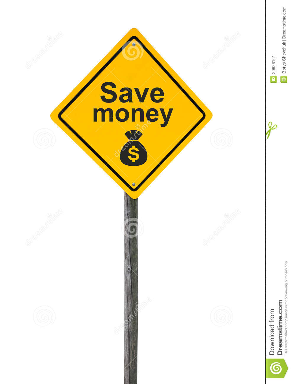 Save Sign Indicates Placard Advertisement And Investment ...