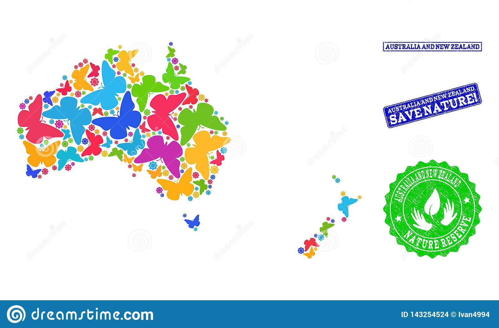 Australia To New Zealand Map.Save Nature Composition Of Map Of Australia And New Zealand With